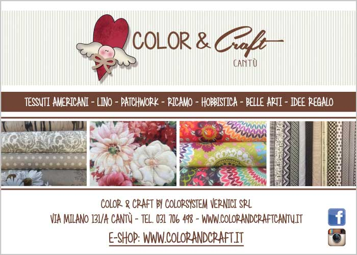 Color & Craft - tessuti americani, lino, patchwork, ricamo, hobbistica, belle arti, idee regalo