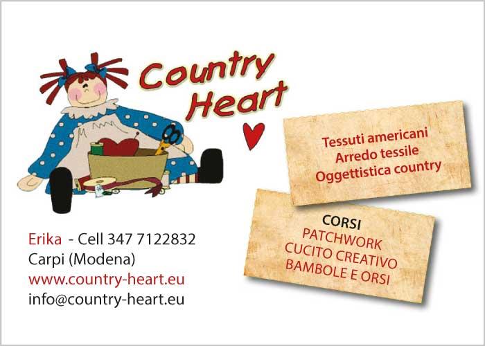 Country Heart - tessuti americani, arredo tessile, corsi patchwork, cucito creativo