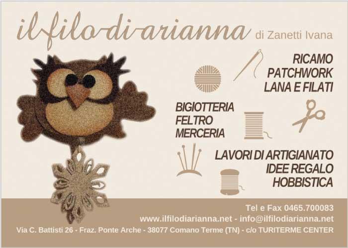 Il filo di Arianna - ricamo, patchwork, lana e filati, merceria, idee regalo
