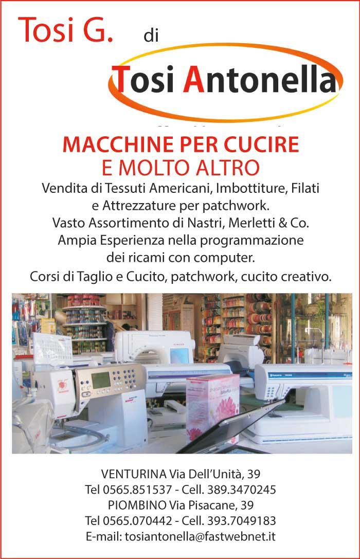 Tosi G. - macchine per cucire - vendita tessuti e attrezzature - corsi Quilt patchwork