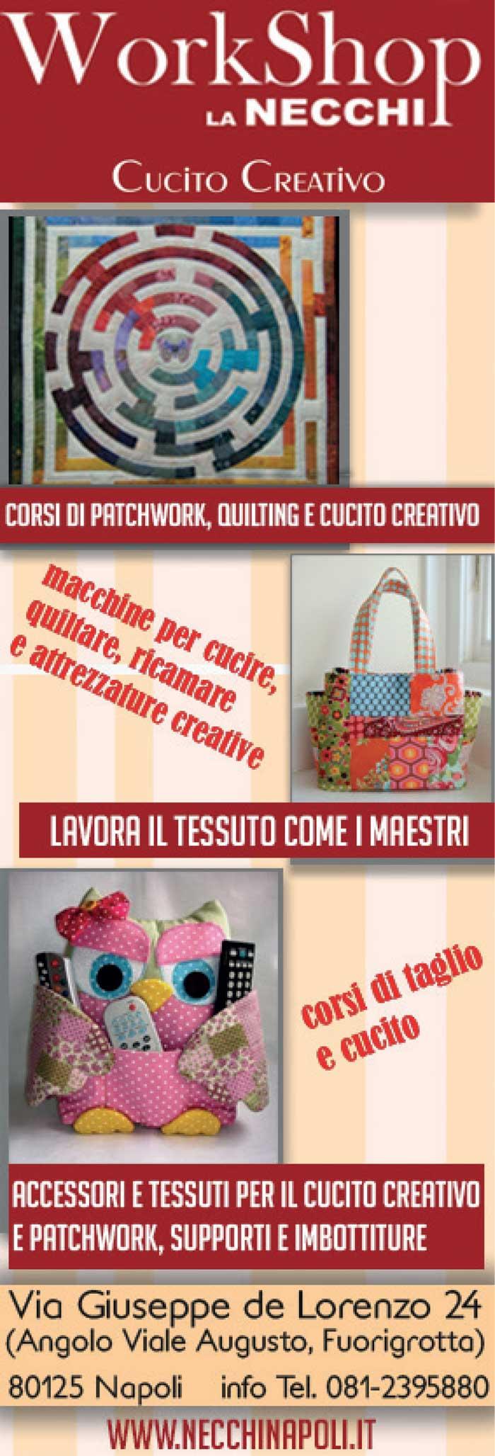 Workshop La Necchi - corsi di patchwork, cucito creativo, quilting, accessori per tessuti, cucito creativo
