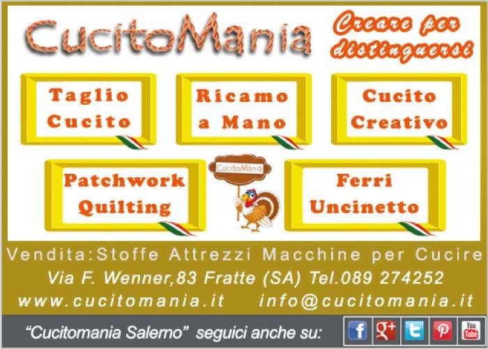 Cucitomania - taglio cucito, ricamo a mano, cucito creativo, patchwork quilting, ferri uncinetto