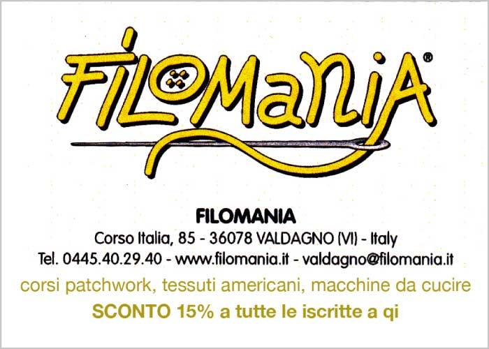 Filomania - corsi patchwork, tessuti americani, macchine da cucire