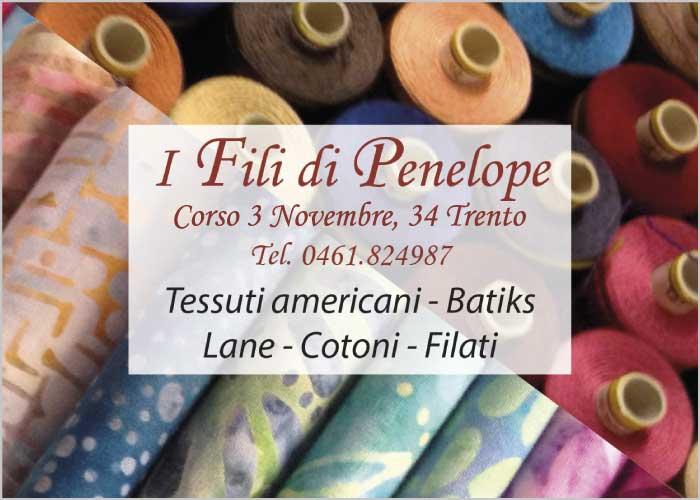 I fili di Penelope: tessuti americani, batiks, lane, cotoni, filati