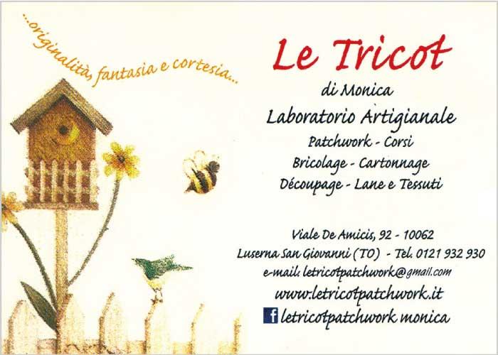 Le Tricot di Monica - Laboratorio artigianale - patchwork, corsi, bricolage, cartonnage, dècoupage, lane e tessuti