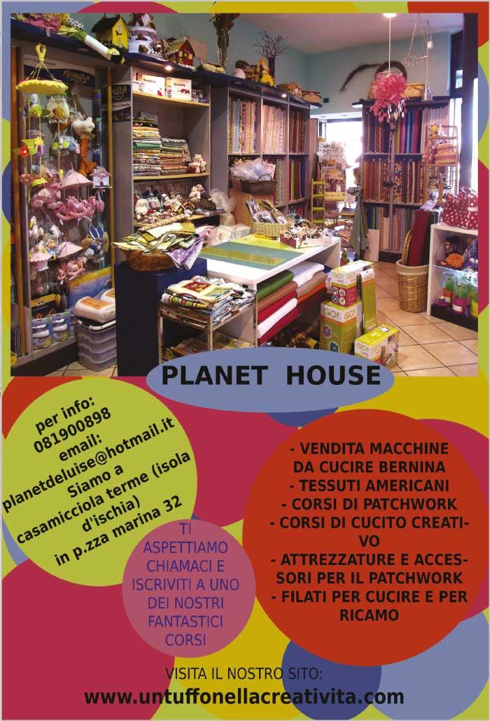 Planet House - vendita macchine da cucire, tessuti americani, corsi di patchwork