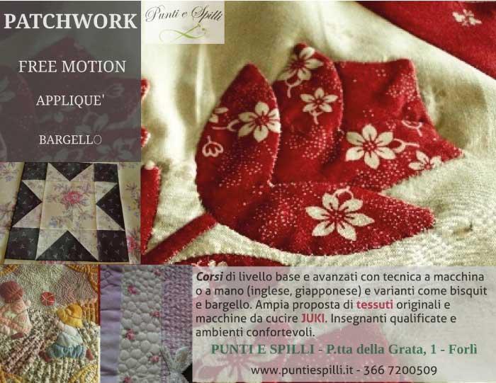 Punti e Spilli - patchwork, free motion, appliquè, bargello